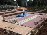 平板ブロック設置工
