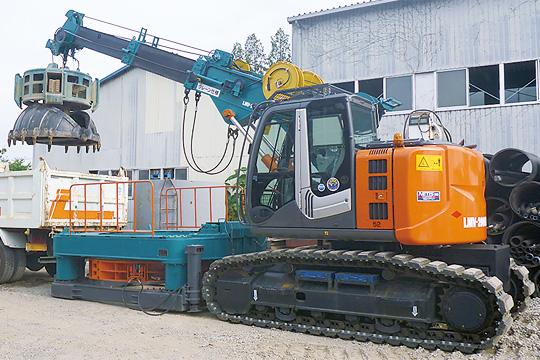 鋼管立坑築造工法